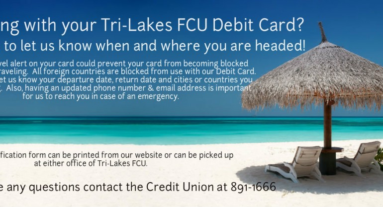 3 – Travel With Debit Card